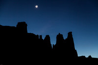 Fisher Towers Moonrise