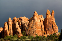 Arches Pinnacles Storm Light 1