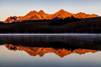 Sawtooth Range Little Redfish Lake Sunrise 3