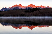 Sawtooth Range Little Redfish Lake Sunrise 1