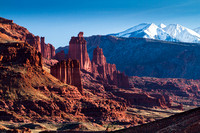 Fisher Towers & LaSal Mountains